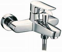 Смеситель для ванны или душа Смарт-Инлайн, излив 200 мм, с лейкой, хром