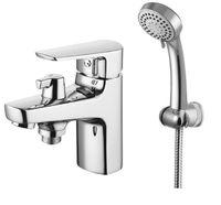 Смеситель на борт ванны Смарт-Инлайн на 1 отверстие, с душем, хром