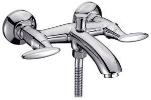 Смеситель для ванны Смарт-Престиж, излив 120 мм, с душем, хром фото