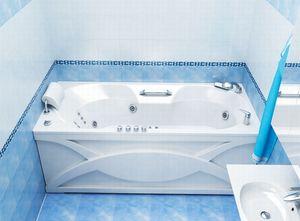 Ванна акриловая гидромассажная прямоугольная Валери 1700х850х645 (ванна, каркас, гидромассаж, слив-перелив автомат) фото