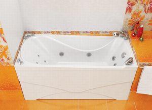 Ванна акриловая гидромассажная прямоугольная Вики 1600х750х770 (ванна, каркас, гидромассаж, слив-перелив автомат) фото