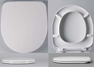 Сиденье для унитаза с крышкой Сириус, дюропласт со стальным креплением (новый артикул W304301) фото