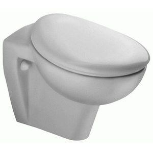 Сиденье для унитаза с крышкой Аванс, стальные шарниры, белый фото