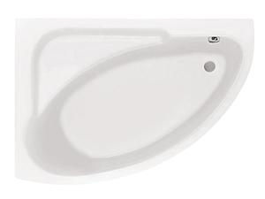 Ванна акриловая угловая асимметричная Гоа 150х100, левая, белая, без ножек фото