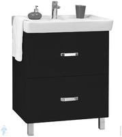 Тумба мебельная напольная Америна 70 Н черная (раковина приобретается отдельно)
