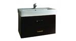 Тумба мебельная подвесная Америна 70 черная (раковина приобретается отдельно)