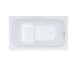 Ванна акриловая сидячая Арго 1200х700х610 (ванна, каркас, слив-перелив автомат)