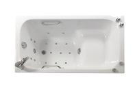 Ванна акриловая сидячая гидромассажная Арго 1200х700х610 (ванна, каркас, гидромассаж, слив-перелив автомат)