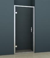 Душевая распашная дверь в нишу 90х200 см AZ-101H S, прозрачное стекло 6 мм, профиль хром