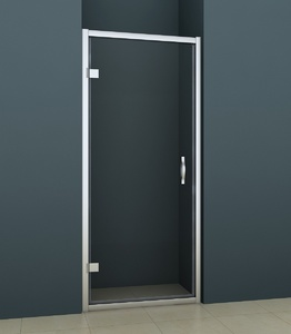 Душевая распашная дверь в нишу 100х200 см AZ-101H S, прозрачное стекло 6 мм, профиль хром фото