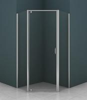 Душевое ограждение пятиугольное 90х90 см AZ-112P, прозрачное стекло 5 мм, профиль - хром, без поддона