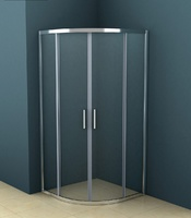 Душевое ограждение полукруглое 90х90 см AZ-121 S A, прозрачное стекло 6 мм, профиль - хром, без поддона