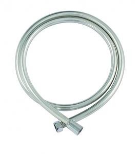 Шланг для душа гладкий серебристый ПВХ 150 см с защитой от перекручивания фото