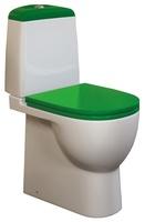 Унитаз-компакт напольный Best Color Green в комплекте с сиденьем и крышкой с микролифтом салатового цвета, механизм Geberit