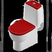 Унитаз-компакт напольный Best Color Red сиденье с микролифтом красного цвета, механизм Geberit