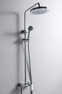 Душевая система с круглым тропическим душем 220 мм. и смесителем Opal R, без излива фото