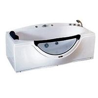 Ванна акриловая прямоугольная CS-832 R 168х90х68 см, в комплекте со смесителем, подголовником и сифоном, правая