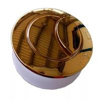 Кнопка смыва арматуры бачка Boheme, цвет золото