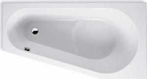 Ванна акриловая угловая асимметричная Delta 160х80 см, Левая фото