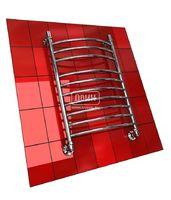 Полотенцесушитель водяной в форме лестницы Модель K 80/50 10 полок (3+7), нижнее подключение, цвет хром, К1 (без углов)