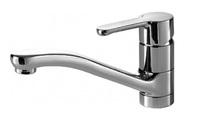 Смеситель для кухни и кухонной мойки с литым поворотным изливом Stream однорычажный