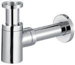 Сифон для раковины декоративный латунный цилиндрический, диаметр выходного отверстия G5/4х32, хром