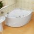Ванна акриловая гидромассажная угловая симметричная Эрика 1400x1400x670 (ванна, каркас, гидромассаж, слив-перелив автомат) фото