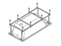 Каркас для акриловой ванны Корсика 180х80, с сифоном