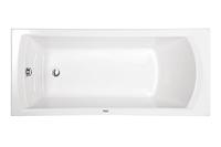 Ванна акриловая прямоугольная Монако XL 160х75, белая, без ножек