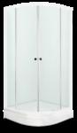 Душевое ограждение 90х90 Fit 99, высота 1,95 м, дверки - сатин матированное стекло, профиль - белый, для низкого поддона