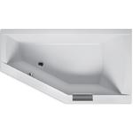Ванна акриловая угловая асимметричная с ручкой Geta 160х90 см, Левая