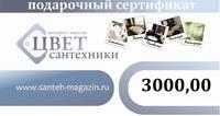 Подарочный сертификат на 3000,00 руб