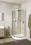Душевое ограждение 100х100 Lucena, высота 1,95, дверки - прозрачное стекло, профиль - хром, для низкого поддона