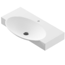 Раковина умывальник Infinity 76,5х45 см белый