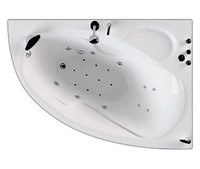 Ванна акриловая гидромассажная асимметричная Изабель 1700х1000х630 (ванна, каркас, гидромассаж, слив-перелив автомат), Левая