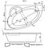 Ванна акриловая угловая асимметричная Geneve 150х100 см. левая, с каркасом и сифоном, без экрана фото