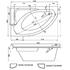 Ванна акриловая угловая асимметричная Spirit 163х104 см. правая, с каркасом, сифоном и экраном фото