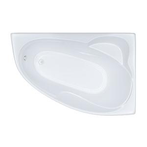 Ванна акриловая асимметричная Кайли 1500х1000х630 (ванна, каркас, слив-перелив автомат), Левая фото