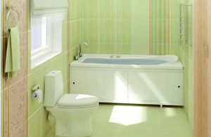 Экран для ванны раздвижной Кварт белый, 2 створки, ширина 168 см, высота 56-60 см фото