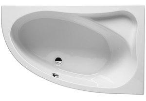 Ванна акриловая угловая асимметричная Lyra 140х90 см, Левая фото