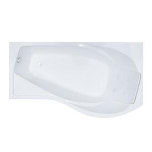 Ванна акриловая угловая асимметричная Мишель 1700х960х600 (ванна, каркас, слив-перелив автомат) левая фото