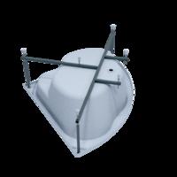Каркас стальной порошковый для угловых ванн 150 см 1ACReal