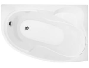 Ванна акриловая угловая асимметричная Николь 1600x1000x630 (ванна, каркас, слив-перелив автомат) левая фото