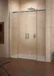 Душевая раздвижная дверь в нишу Ocean O115, 160х195 см, прозрачное стекло 8 мм, профиль - хром, четырехстворчатая