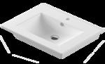 Раковина умывальник встраиваемый Quadro 75х46,5 см белый