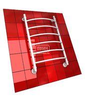Полотенцесушитель водяной в форме лестницы Модель R 80/50 6 полок, нижнее подключение, цвет белый, К1 (без углов)