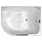 Ванна акриловая угловая асимметричная Респект 1800х1300х750 (ванна, каркас, слив-перелив автомат) левая