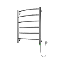 Полотенцесушитель электрический в форме лестницы Классик П6 450х635, сухой ТЭН, диммер, хром