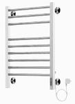 Полотенцесушитель электрический в форме лестницы Сицилия П9 (6+3) 500х700, сухой ТЭН, евродиммер, хром