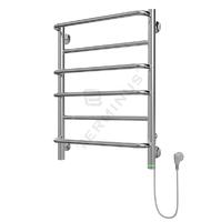 Полотенцесушитель электрический в форме лестницы Евромикс П6 450х625, сухой ТЭН, диммер, хром